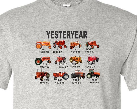 orange tractor kids shirt, allis chalmers shirt, vintage tractor shirt, kids tractor shirt, farm shirt, funny shirt