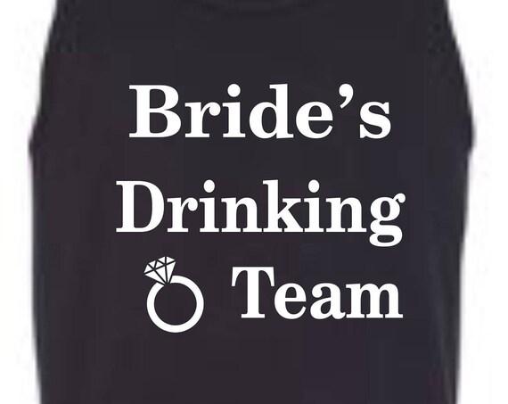 Brides Drinking Team shirt, Wedding shirt, Bachelorette party shirt, Wedding clothing, Funny birthday shirt, LOL birthday shirt