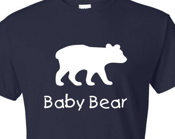 Kids baby bear tee shirt, family shirt, fathers day gift, mothers day gift, funny saying t shirt, macthing papa bear tee shirt