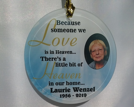 memorial photo orn, Christmas orn, suncatcher, photo ornament, personalized ornament