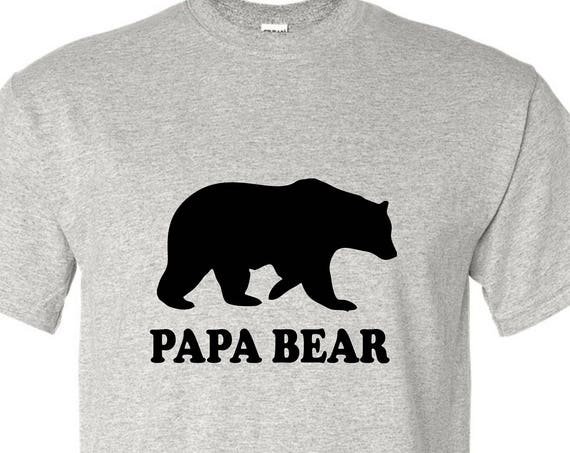 Gift for Dad Papa Bear T-shirt men's funny t-shirt, Gift for Fathers day, Christmas gift for Dad, Birthday gift for dad, family shirt