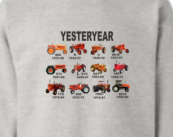 orange tractor crew neck sweatshirt, allis chalmers sweatshirt, vintage tractor shirt, tractor shirt, farm shirt, funny shirt