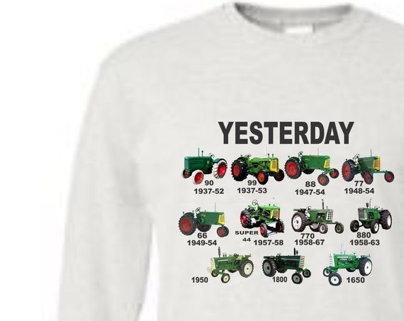 tractor sweatshirts , green tractor shirt, oliver tractor shirt, vintage oliver shirt, historical oliver shirt, farm shirt,  tractor shirt