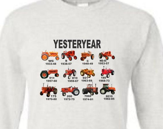 orange tractor long sleeve shirt, allis chalmers long sleeve shirt, vintage tractor shirt, tractor shirt, farm shirt, funny shirt