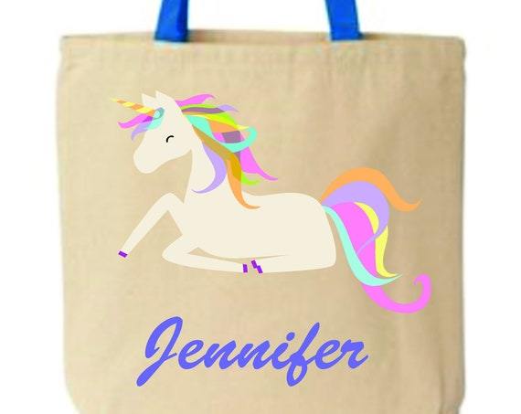 Kids book bag,kids personalized bag, customized tote bag, unicorn school bag, School bag, daycare bag