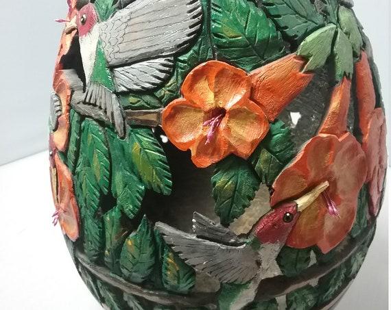 Gourd, carved gourd, gourd art,