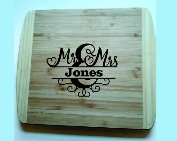Bamboo Cutting Board, Wedding gift, Anniversary gift, Everyday gift, Personalized Gift