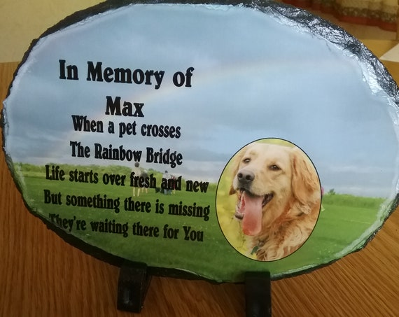 memorial photo gift, customized memory slate, photo slate, memorial photo slate, photo sediment stone