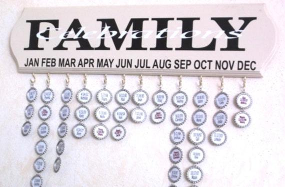 family celebration board, birthday board, family dates, family birthday board, anniversary board, family calendar board