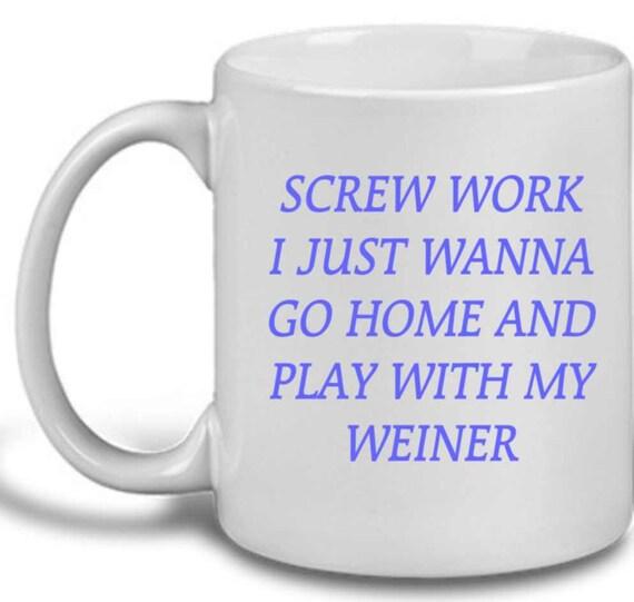 Go Home and Play coffee mug, mug #117, doxie coffee mug, dachshund coffee cup, funny doxie cup,  dachshund coffee mug, dachshund mug