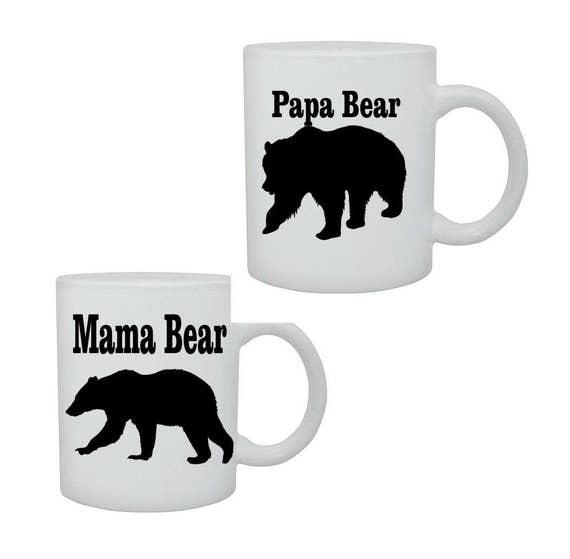 Mama & Papa Bear coffee cup/mug# 219, Mothers day gift, Birthday gift, ceramic mug, coffee cup, family cup, funny coffee mug, Christmas gift