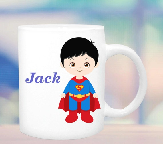super hero cup #2 for boys, boys hero mug, super hero mug, cup for a boy, personalized boys mug, customized boys mug, hero figure for boys