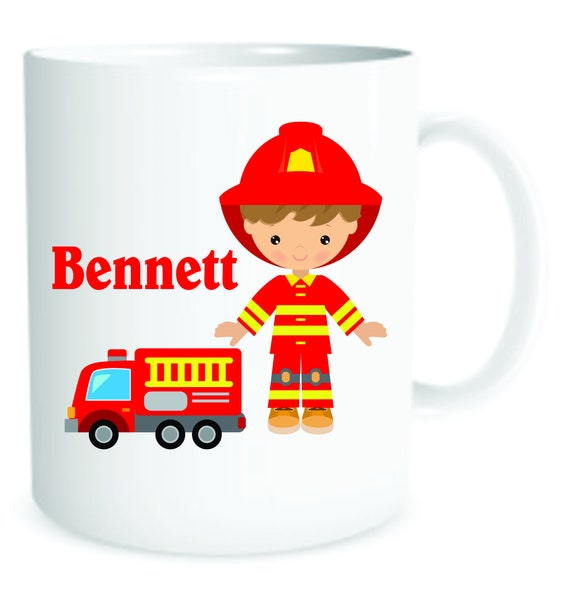 Occupation  for boys, fireman mug, super hero mug, cup for a boy, personalized boys mug, customized boys mug, hero figure for boys