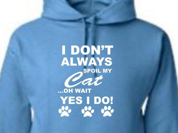 spoiled cat hoodie, spoiled cat sweatshirt, gift for cat lover, cat lover sweatshirt, cat hoodie, cat person clothing, neon green hoodie