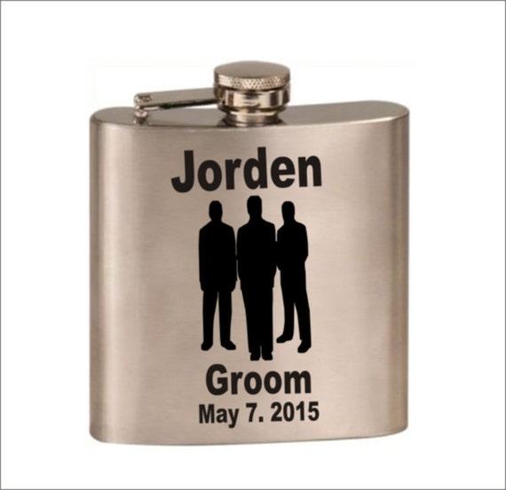 wedding flask, groomsmen flask, grooms flask, mens flask, bachelor party gift, father of bride-groom gift, usher gift,
