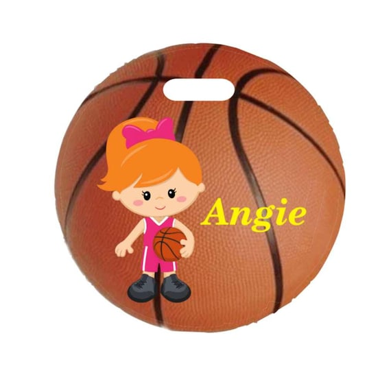 backpack tag, girl basketball tag, gym bag tag, lunch box tag, sports tag, custom tag, girls tag, personalized tag