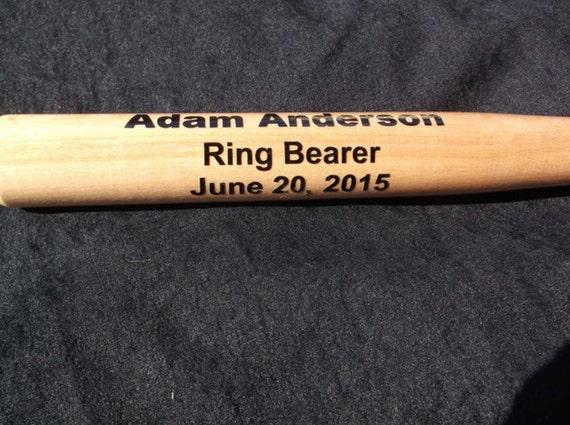 mini baseball bat, personalized mini baseball, ring bearer gift,customized bat, trophy bat, baseball award, wedding party favor, baby gift,