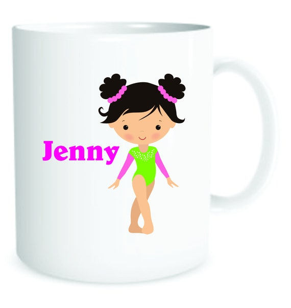 girls gymnastics, girl gymnastid mug, kids cup,  personalized gymnastics cup, personalized girls mug, girls special cup, girls plastic cup,