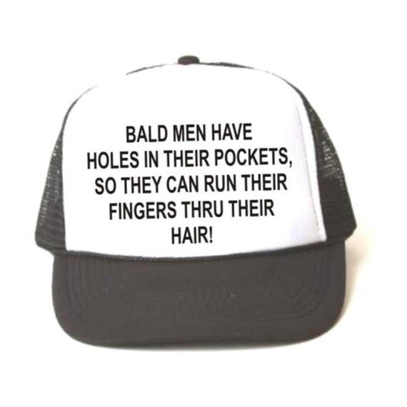 Bald men joke cap, truckers cap, truckers hat, baseball hat, baseball cap, N115, funny hat, funny truckers cap, funny baseball cap,