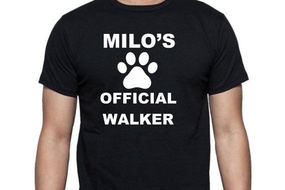 dog walker shirt, funny shirt, funny unisex shirt, LOL shirt, statement shirt, hilarious t-shirt, gag gift shirt, adult funny shirt