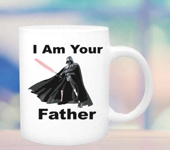 Darth Vader mug 142, I am your father mug, quote cup, ceramic coffee mug, funny coffee cup, yoda coffee mug,