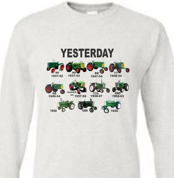 tractor long sleeve te, green tractor shirt, oliver tractor shirt, vintage oliver shirt, historical oliver shirt, farm shirt,  tractor shirt