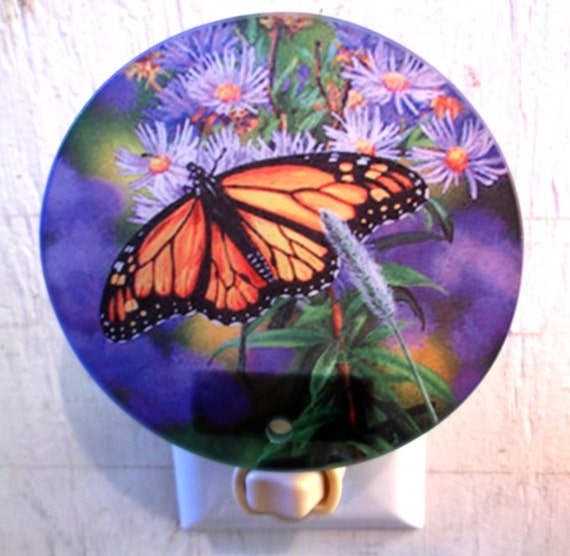 monarch butterfly night light, butterfly night light, monarch night light, nature night light, pretty night light, decorative light