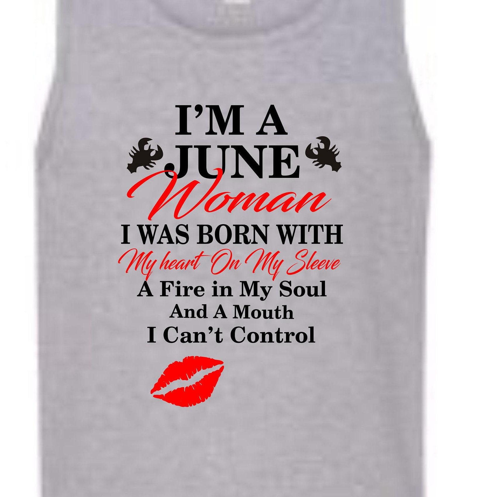 abbc3032b1f I m a June Woman shirt