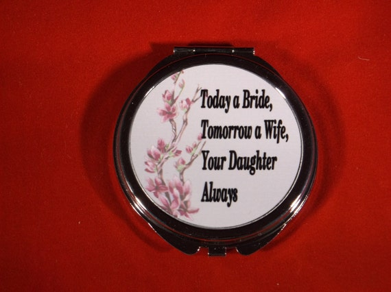 compact mirror, gift for mother of bride, bridesmaid gift, maid of honor gift, mom of groom gift, bridal gift compact mirror, purse mirror