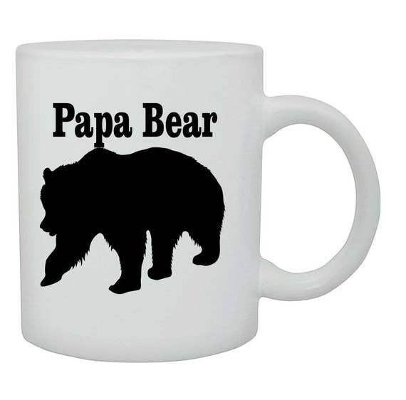Papa Bear coffee cup/mug, Fathers day gift, Birthday gift, ceramic mug, coffee cup, coffee mug, funny coffee mug, Christmas gift,