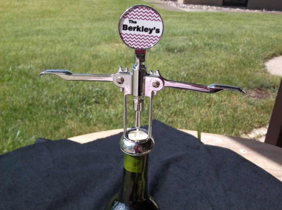 wine corkscrew, personalized corkscrew, custom corkscrew, anniversary gift, wedding gift, bridesmade gift, birthday gift,  wine lovers gift,