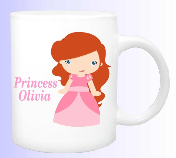 princess cup #5, name of your princess mug, personalize a mug with the name of your child, customized mug to your needs, special mug for kid