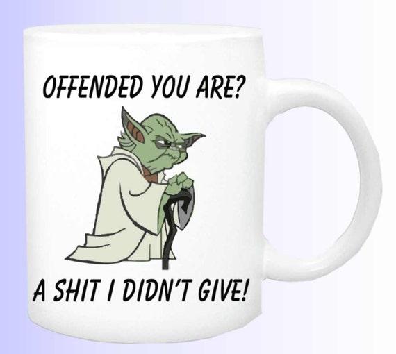 Yoda mug # 143, quote cup, ceramic coffee mug, funny coffee cup, yoda coffee mug,