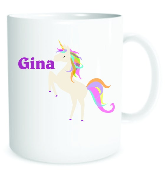 girls Unicorn cup, girl Unicorn mug, kids cup,  personalized cheer cup, personalized girls mug, girls special cup, girls plastic cup,