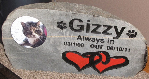 Pet Memorial Rock, engraved rock, photo rock, memory rock