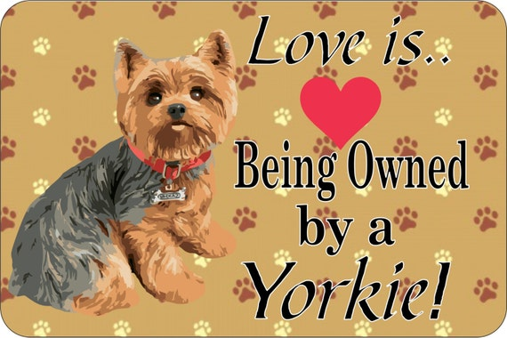 Yorkie sign,funny metal sign, indoor/outdoor sign, custom sign, personalized sign, shop sign, driveway sign, funny sign, sign