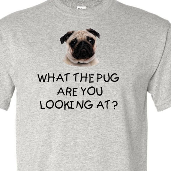 What the pug are you looking at? Pug shirt, pug lovers, shirt for dog lover, birthday shirt, shirt for dog lady or cat lady, dog lady,