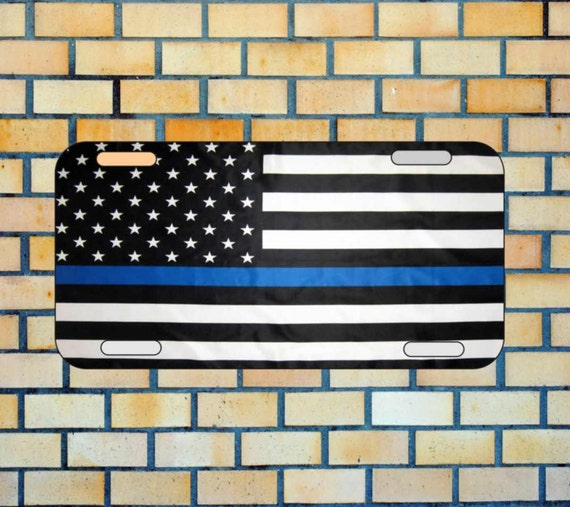 customized license plate #79, car tag,police thin blue line, show your support for the police,