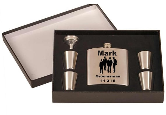 flask gift set, customized flasks,  personalized flasks,  bridal gifts,  wedding party gifts,  grooms gifts, 10 brides gifts