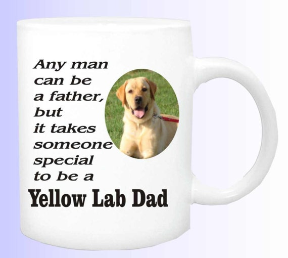 Yellow Lab dad coffee cup # 156, yellow lab dog mug, yellow lab dog cup, yellow lab lover cup, yellow lab  dog lover mug
