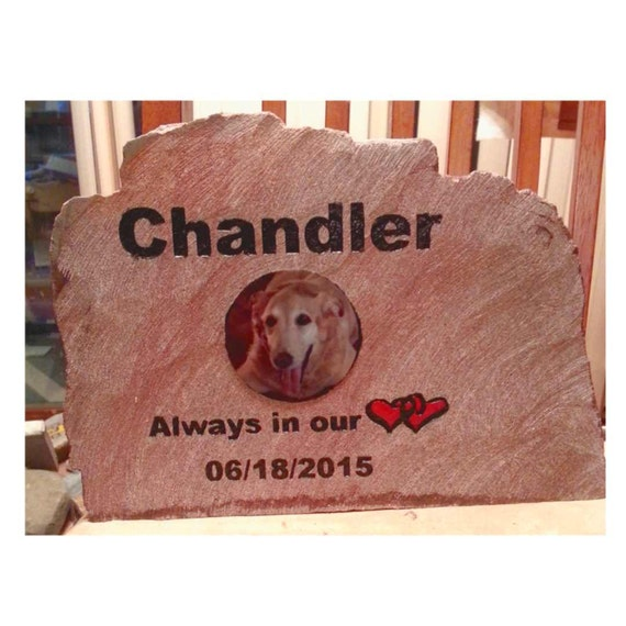 pet memorial, photo rock, memorial, engraved rock, engraved memorial rock, picture memorial rock, custom memorial rock, made to order rock