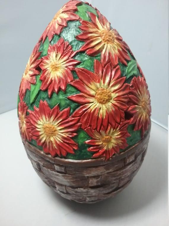 Gourd, carved gourd, gourd art, decorative gourd mums in a basket