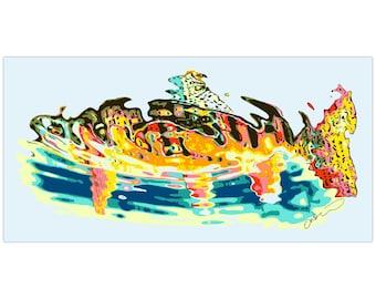 Golden Trout underwater bumper sticker