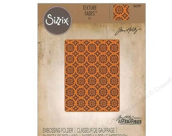 Multicolor Sizzix 3-D Impresslits Embossing Folder 664187 Fanciful by Tim Holtz