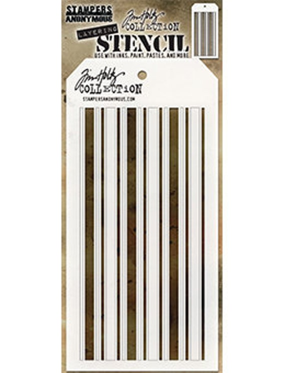 Tim Holtz Layering Stencil Merry Christmas Stencil ths098 Stampers Anonymous
