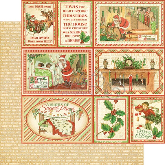 Graphic 45 Twas the Night Before Christmas Collection 12 x 12 Cardstock U PICK