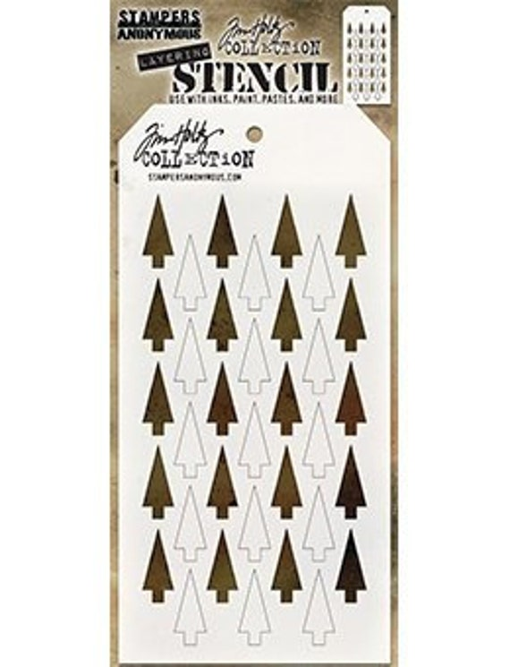 Tim Holtz Layering Stencil ~ SHIFTER STRIPES ~ THS108 ~ Stampers Anonymous