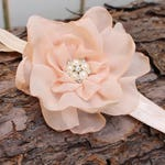 Blush Flower Clip, Blush flower headband, Bridal Hair Clip, Flower Girl, Photo props, Baby headband