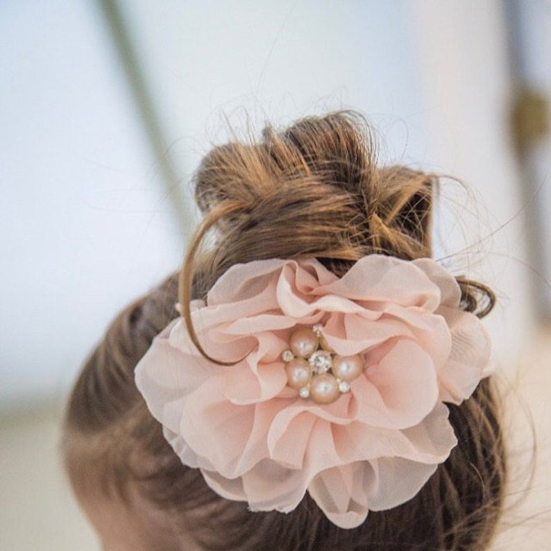 Blush Flower Clip Blush flower headband Bridal Hair Clip image 0