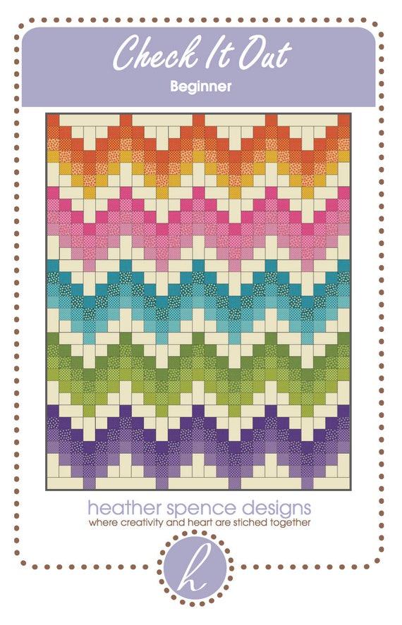 Chevron Quilt-Modern Quilt-Rainbow Quilt-Quilt Pattern-
